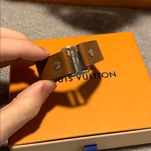Louis Vuitton bracelet brown leather